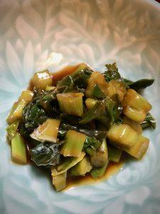 美味しい九州醤油でツルムラサキのすだち醤油