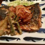 九州醤油とぽん酢醤油で、醤油漬け鰆の南蛮風